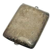 Edwardian Sterling Silver Hinged Calling Card / Chatelaine Case
