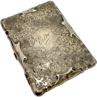 Sterling Silver Wallet Beautifully Hand Chased, Leather Lined