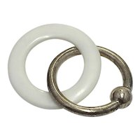 Lunt Baby Rattle Teething Ring Sterling Silver