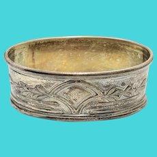 Ornate Oval Napkin Ring 835 Silver