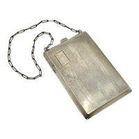 Edwardian Sterling Silver Wristlet, Cosmetic & Coin Purse