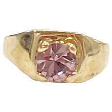 Birthstone Ring CHARM February Amethyst 10K Gold
