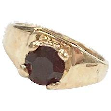 Birthstone Ring CHARM January Garnet 10K Gold