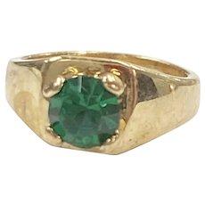 Birthstone Ring CHARM May Emerald 10K Gold