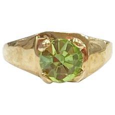 Birthstone Ring CHARM August Peridot 10K Gold
