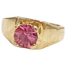 Birthstone Ring CHARM October Pink Tourmaline 10K Gold