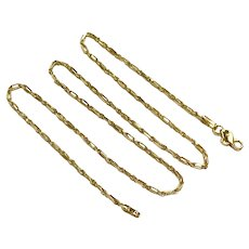 """Milano Rope Chain Necklace 14K Gold 3.3 Grams 16"""" Length"""