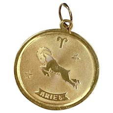 Aries Astrology Charm 14K Gold