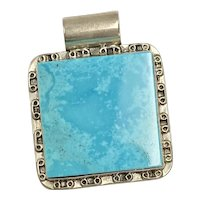 South-West Statement Pendant Sterling Silver & Turquoise