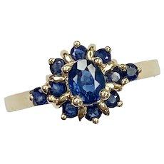 Natural Sapphire Vintage Ring .98 Carat tw 14K Gold