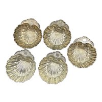 Shell Nut Dish / Place Holder Sterling Silver by Durgin Gorham