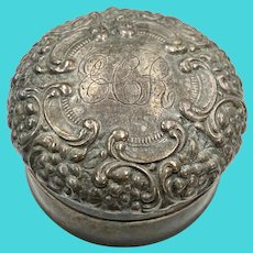 Sterling Silver Small Trinket Box by Unger Brothers