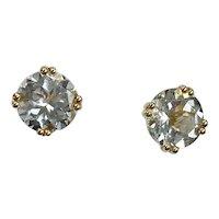 Aquamarine Stud Earrings 4.80 Carats tw 14k Gold