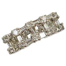 Diamond Band Ring 1.41 Carat tw 18K White Gold, LeVian