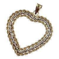 Heart Pendant 14K Two-Tone Gold