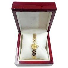 "Geneve 14k Yellow Gold Diamond Ladies Watch 6 1/2"""