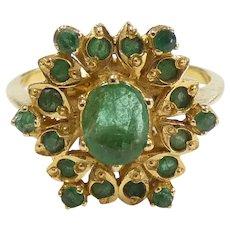 .84ctw Natural Emerald Ring 22k Yellow Gold