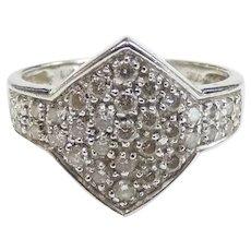 .33 ctw Diamond Cluster Ring 18k White Gold