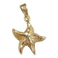 Gleaming Starfish Pendant 14k Yellow Gold