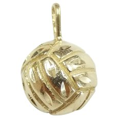 Sporty Volleyball Pendant 14k Yellow Gold