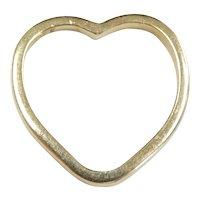 Heart Outline Pendant 14k Yellow Gold