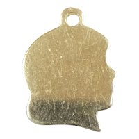 Engravable Girl Head Pendant / Charm 14k Yellow Gold