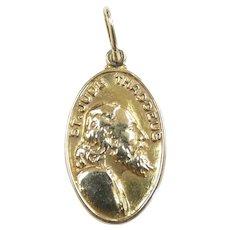 Religious St. Jude Thaddeus Pendant / Charm 14k Yellow Gold