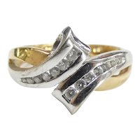 .208 ctw Diamond Bypass Ring 14k Yellow & White Gold