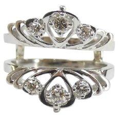 .28 ctw Diamond Ring Enhancer / Guard 14k White Gold