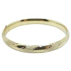 """Chevron Pattern Bangle Bracelet 14k Yellow Gold ~ 9.41 Grams ~ 7"""""""