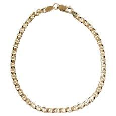 "Marine / Anchor Link Bracelet 8 1/4"" 14k Yellow Gold"