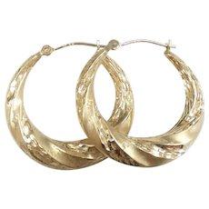 Twisted Hoop Earrings 14k Yellow Gold