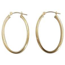 Classic Oval Hoop Earrings 14k yellow Gold