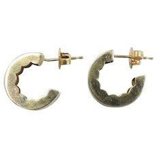 Polished C Hoop Earrings 14k Yellow Gold