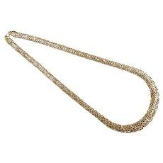 "Graduated Byzantine Necklace 18"" 14k Yellow Gold"