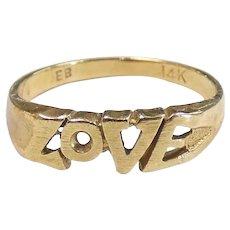 LOVE Band Ring 14k Yellow Gold