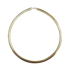 """Omega Chain Necklace 18 1/2"""" 14k Yellow Gold"""