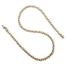 "Hugs & Kisses XO Necklace 17"" 14k Yellow Gold"