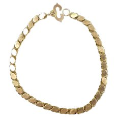 """Fancy Navette Link Bracelet 7 3/4"""" 14k Yellow Gold"""