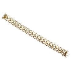 """Fancy Link Statement Bracelet 6 3/4"""" 14k Yellow Gold"""