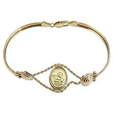 """Cherub Bracelet 14k Yellow Gold ~ 5.78 Grams ~  6 3/4"""""""