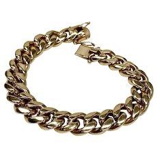 WOW Gents Heavy Curb Link Bracelet 18K Gold 117.7 Grams