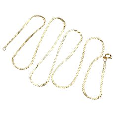 """Serpentine or S Link Chain Necklace 14K Gold, 7.11 Grams 24"""" Length"""