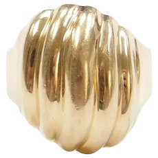 14k Gold Dome Ring