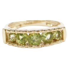10k Gold Peridot Ring with Hearts