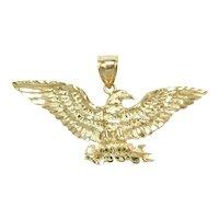 Large Eagle Pendant 10k Gold