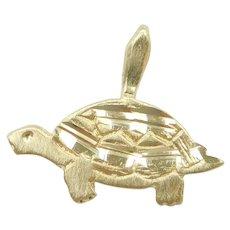 Turtle Charm / Pendant 14k Gold