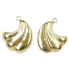 Wing Earring Jackets 14k Gold