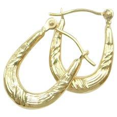 Small Oval Hoop Earrings 14k Gold