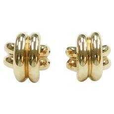 Crisscross X Stud Earrings 14k Gold